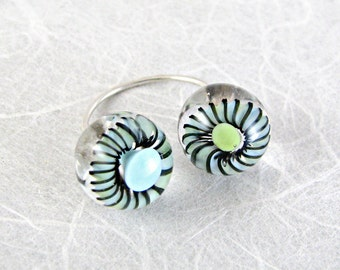 Twisted Lampwork Ring