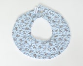 Collar Baby Bib Blue Brown Dots
