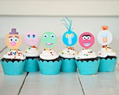The Vintage Muppet Collection - Custom Cupcake Toppers and Their Wraps from Mary Had a Little Party