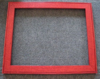 16x20 Red Oak Red Dye Picture Frame