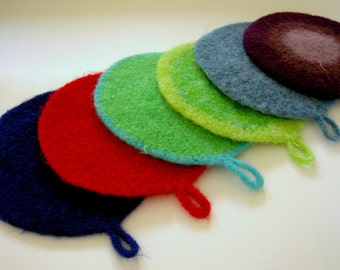 Felted Trivet Crochet Pattern PDF - with permission to sell what you make