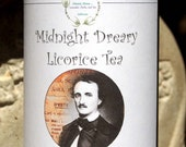Midnight Dreary Herbal Tea, Tisane, Tea in Tin, Gift Tea, Loose Tea, Caffeine Free, Sugar Free, Edgar Allen Poe