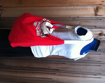 SALE - T Shirt Roll Up Tote - red