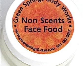 Organic Non-Scents Face Food Moisturizer-Fragrance Free 1 oz