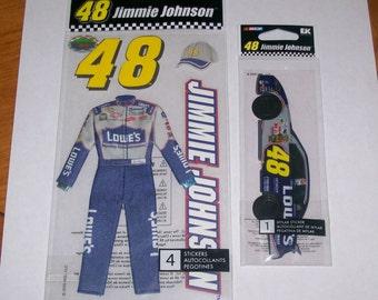 Nascar Jimmie Johnson Scrapbooking Uniform and Car