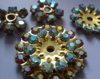 Vintage Glass Beads (7) Swarovski Rhinestone Embellishments Endless Possibilities