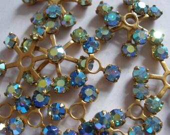 Vintage Glass Beads (8) Swarovski Rhinestone Embellishments Endless Possibilities