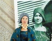 Anne Morrow Lindbergh Doll Miniature Art Collectible