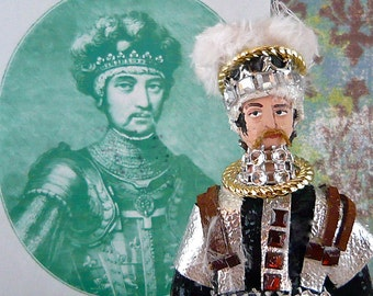 Miniature Doll Edward the Black Prince Historical Art Collectible