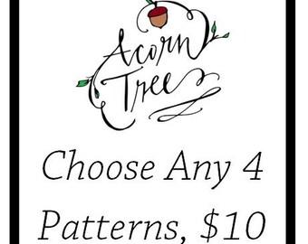 Choose any 4 crochet patterns