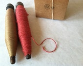 Spool of twine and spool of thread
