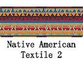Peyote Pattern Native American Textile Cuff Bracelet Delica Seed Bead Belt Pattern 2 Digital PDF File 2 Drop Peyote