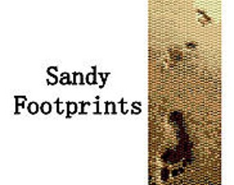 Peyote Bracelet Pattern Footprints in the Sand Beaded Peyote Bracelet Pattern 2 Drop Peyote