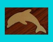 Dolphin Large Mdf Wood Mosaic Base or Craft Shape Unfinished