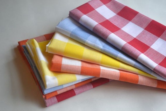 20 Gingham Cloth Napkin Kitchen Starter Set by Dot and Army