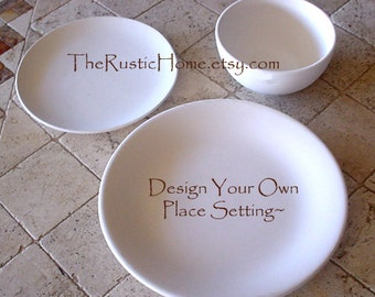 Design your own place setting tableware dinner plate salad plate and bowl set
