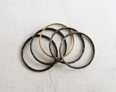 Steel & 14k Gold Stacking Rings