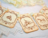 Horse Banner Garland Vintage Style Decoration Baby Shower Birthday Party