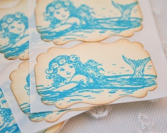 Mermaid Stickers Envelope Seals