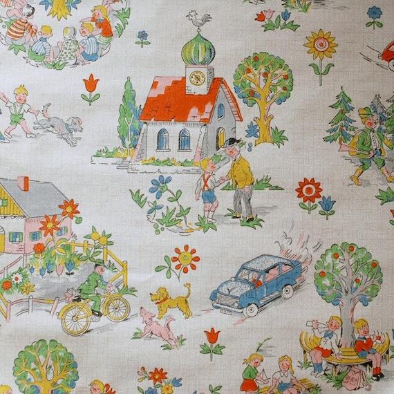 vintage childrens wallpaper 50 cm