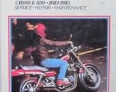 Clymer Honda CB 550 650 Motorcycle Service Repair Manual 1983 1985