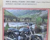 Clymer Kawasaki 900 1000cc Fours Motorcycle Repair Manual 1973 1980