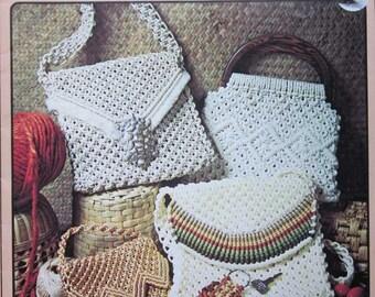 Vintage Purse Strings Macrame Handbags Pattern Book