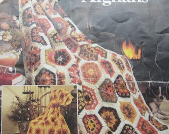Crocheted Scraps to Beauty Afghans Pattern Book