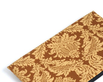 SALE! MacBook 13 Pro case sleeve cover upholstery fabric gold brown ornaments