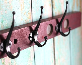 Rustic Red Level Hook Rack - Detroit, Michigan