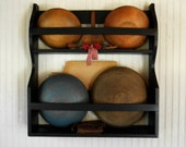 Primitive Bowl Rack Early American Style 5