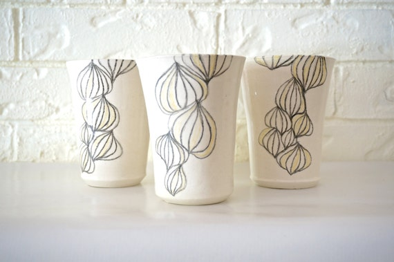 Bulbous Tumblers, handmade set of four