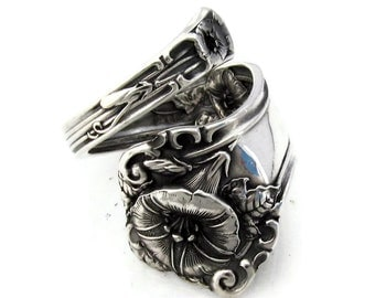 What's The Story Morning Glory Sterling Silver Alvin Spoon Ring