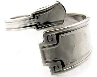 Etruscan Sterling Silver Spoon Ring Demitasse Size 3 - 8