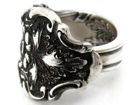Spoon Ring Size 8 The Mighty  Charter Oak Art Nouveau