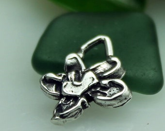 Flower Charm Sterling Silver 001/CH13