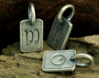 Initial Charm Sterling Silver Plated