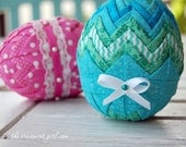 Tutorial - No Sew Quilted Easter Egg pattern - Learn how to make a fabric covered Easter egg
