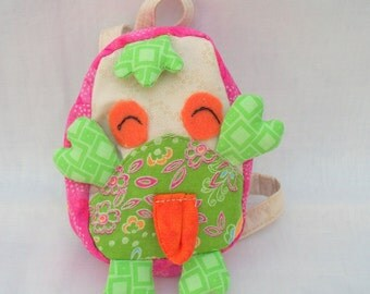 Handmade doll backpack for 18 inch doll, Decorated School Backpack Lovely Monster