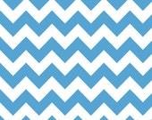 Riley Blake Chevron Medium Blue Flannel Fabric, 1 yard