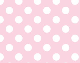 Riley Blake Baby Pink Dot Flannel Fabric, 1 yard