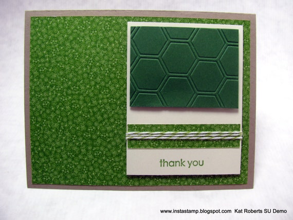 Spring Green - Trendy Thank You - Greeting Card - Free Shipping