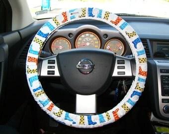 SALE Custom Fancy Fun Rain Boots Steering Wheel Cover