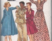 1970s vintage 1/2 UNCUT pattern complete Butterick 3603 Clovis Ruffin size 16 bust 38 waist 30 hips 40 Misses top, dress, skirt and pants