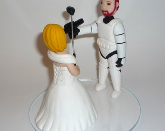 Wedding Cake Topper personalized and made to order - storm trooper, bride and groom sample photos