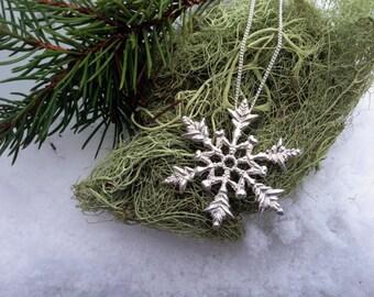 Snowflake Silver Pendant