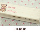 Wooden Rubber Stamp (P183.11 - Bear)