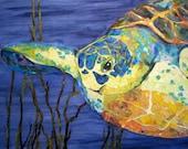 Sealife - Torn Paper Paintings Notecards