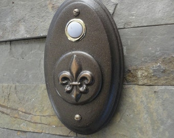 French Fleur De Lis Doorbell Oil Rubbed Bronze