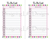 To Do List Printable - Mini Pages - Must Do, Should Do, Want to Do Checklist
